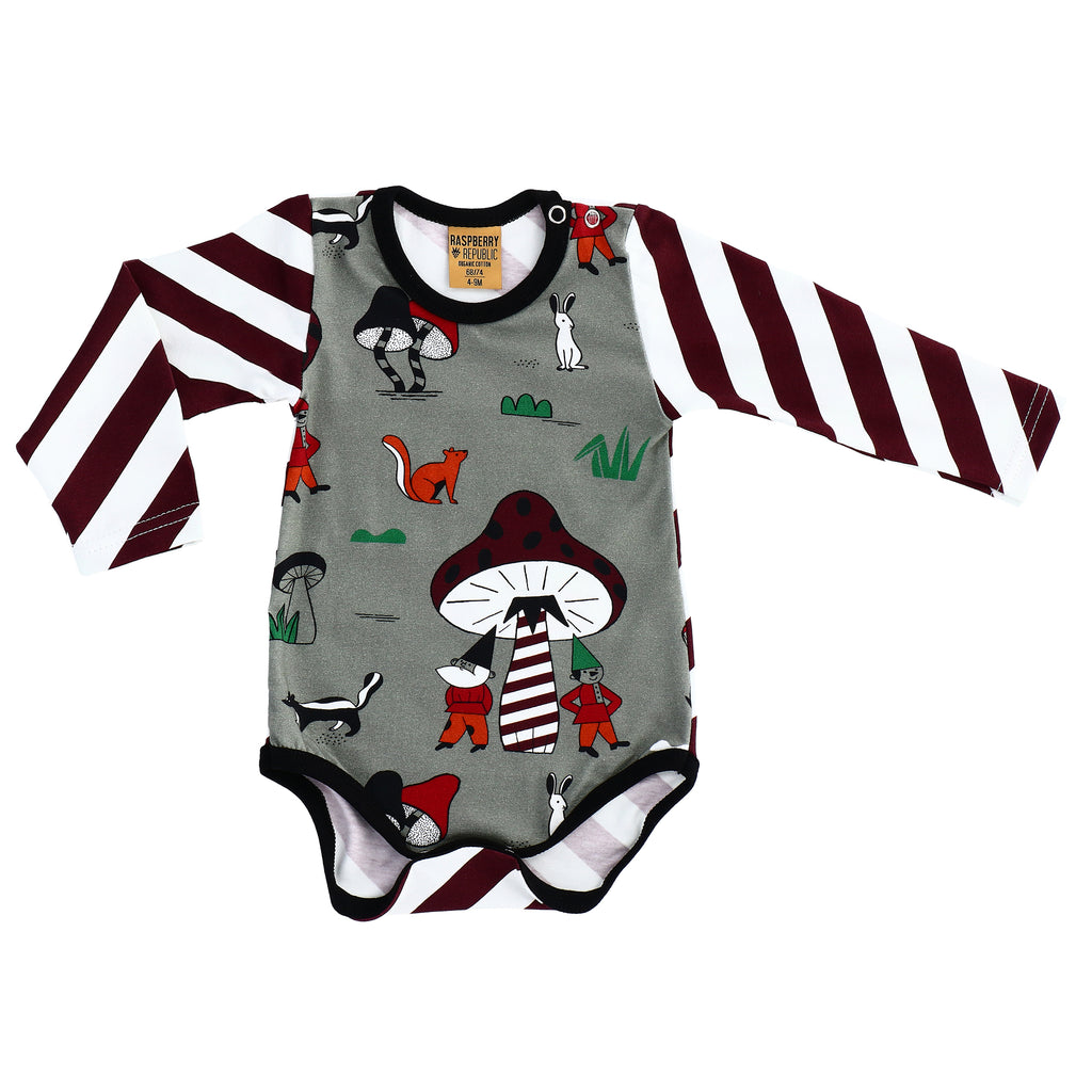 Raspberry Republic - Elves and Gnomes | Body Long Sleeve (last two sz 6-9M & 12-18M)