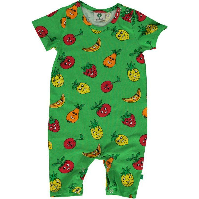 Småfolk - Short Sleeve Fruits Summersuit (last one sz 6-9M)