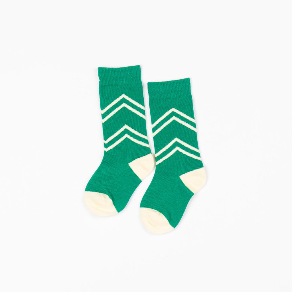 Alba of Denmark - Pepper Green Annie Knee High Socks (last two sz 18-24M & 7-8Y)