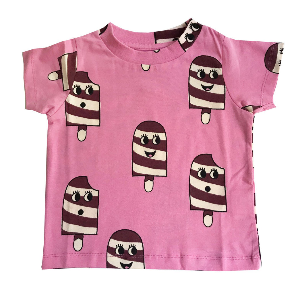 Hugo Loves Tiki - T Shirt - Ice Cream Pink