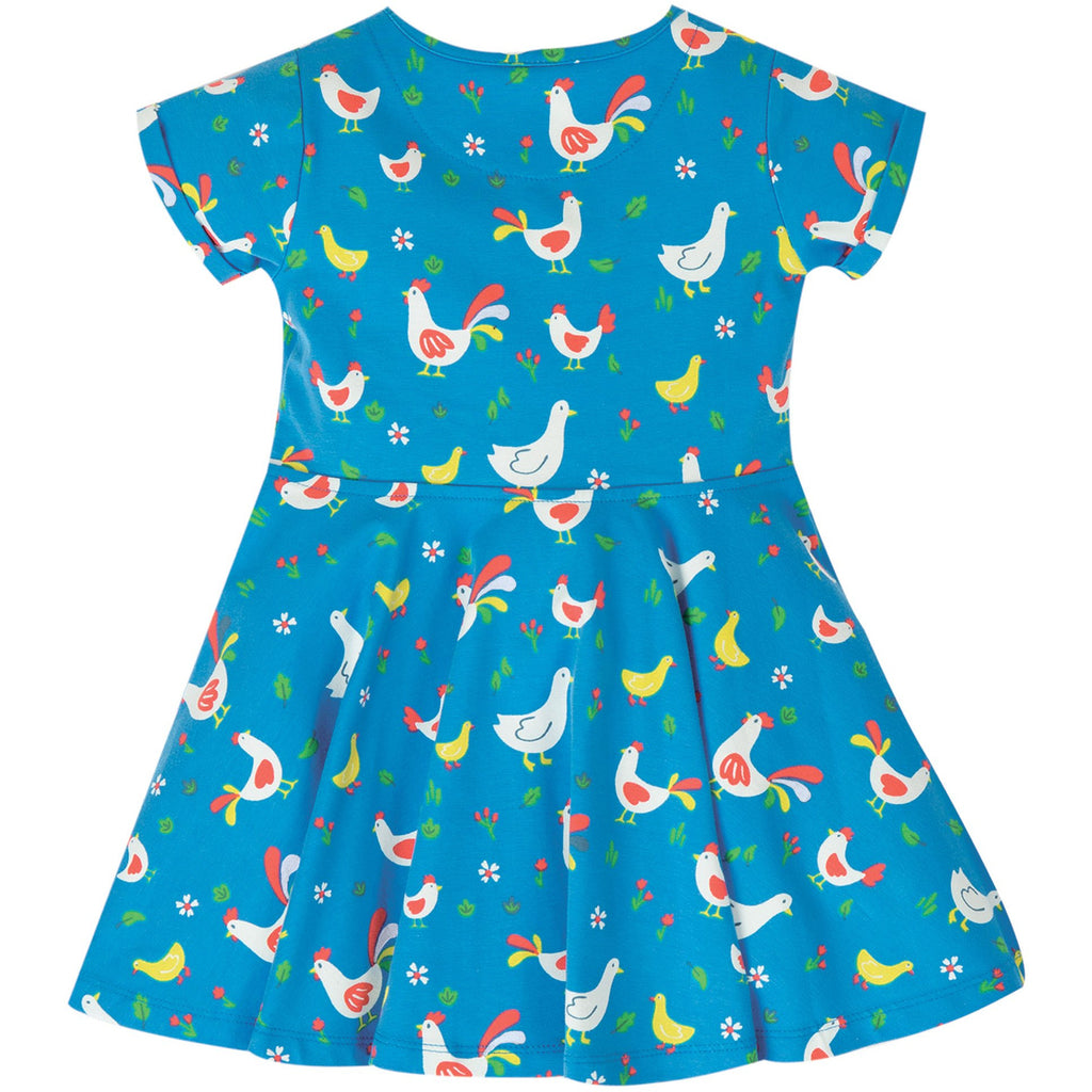 Frugi - Spring Chickens Skater Dress
