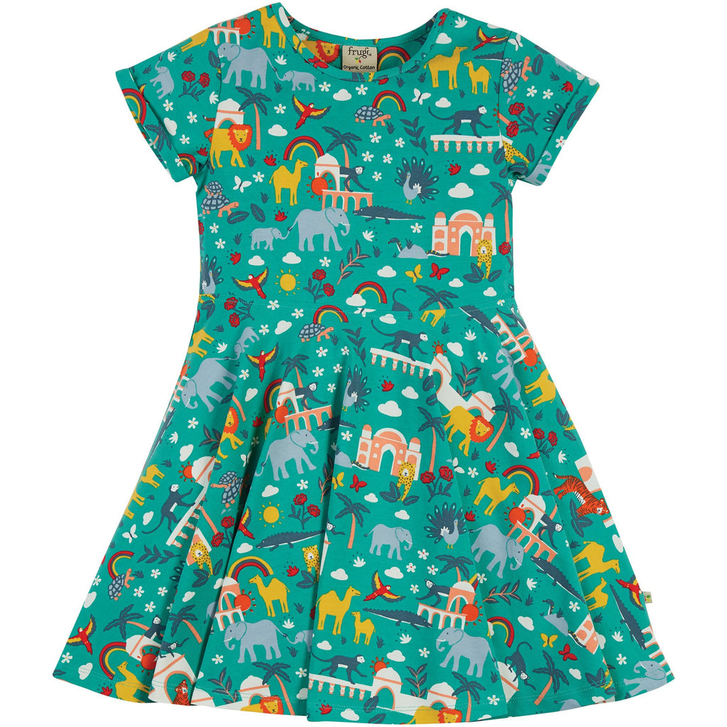 Frugi - India Jewel -Spring Skater Dress