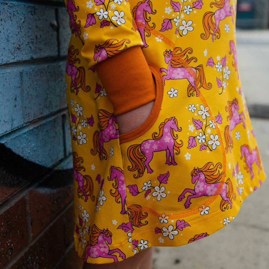 Lanewaykids design - Horse tunic dress with pockets