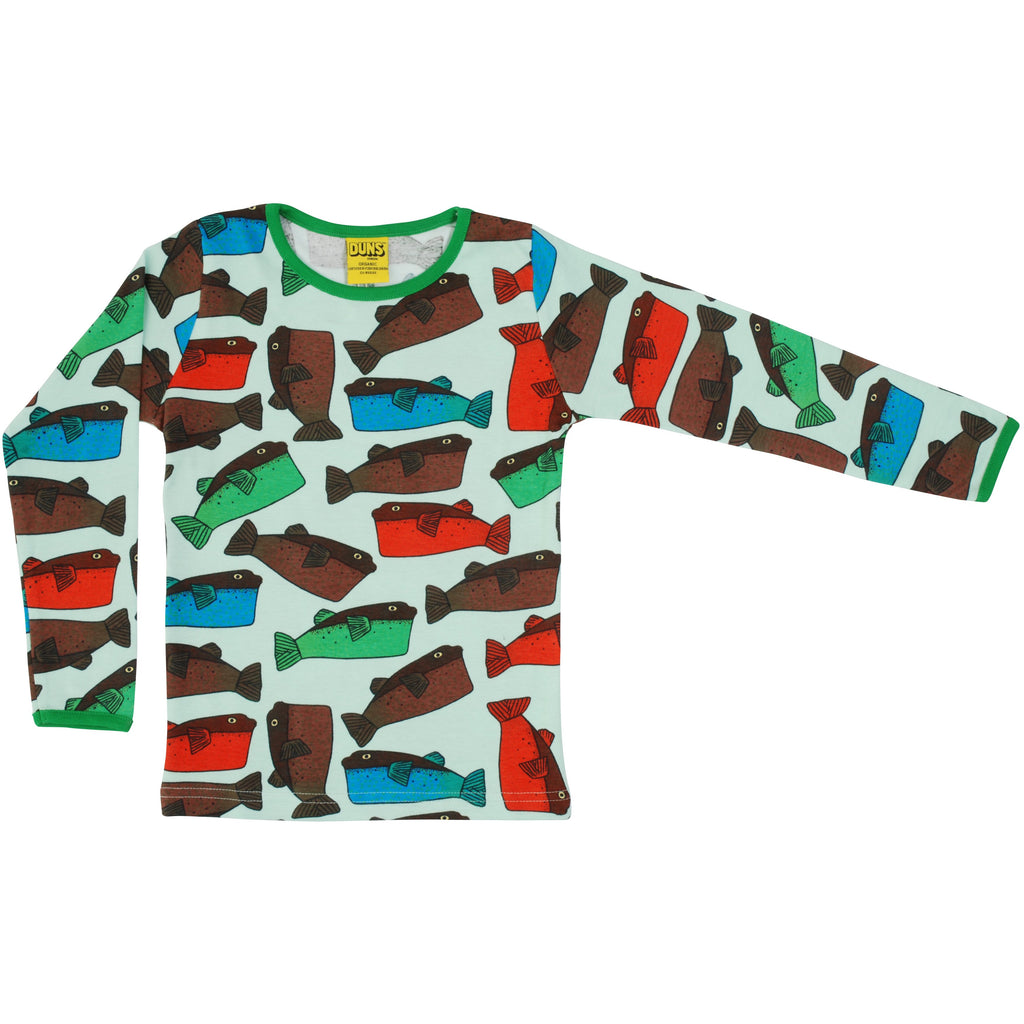 Duns Sweden - Fugo Minty Blue Long Sleeve Top (last one sz3-4Y)