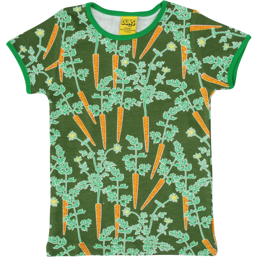 Duns Sweden - Carrots Short Sleeve Top (last two left sz 9-12M & 3-4Y)