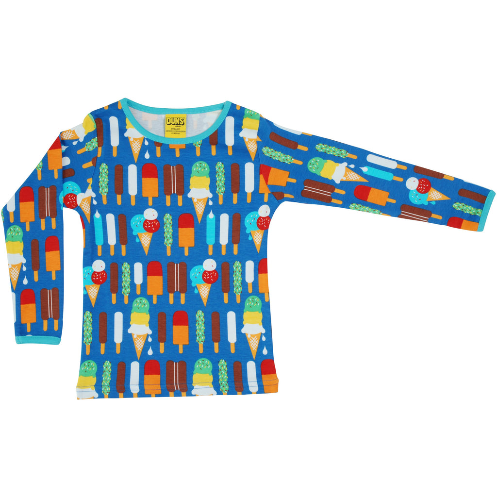 Duns Sweden - Ice Cream Blue Long Sleeve Top