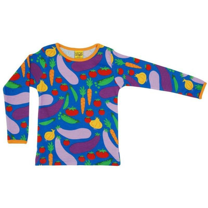 Duns Sweden - Cultivate blue Long Sleeve Top (last two sz 18-24M & 4-5Y)