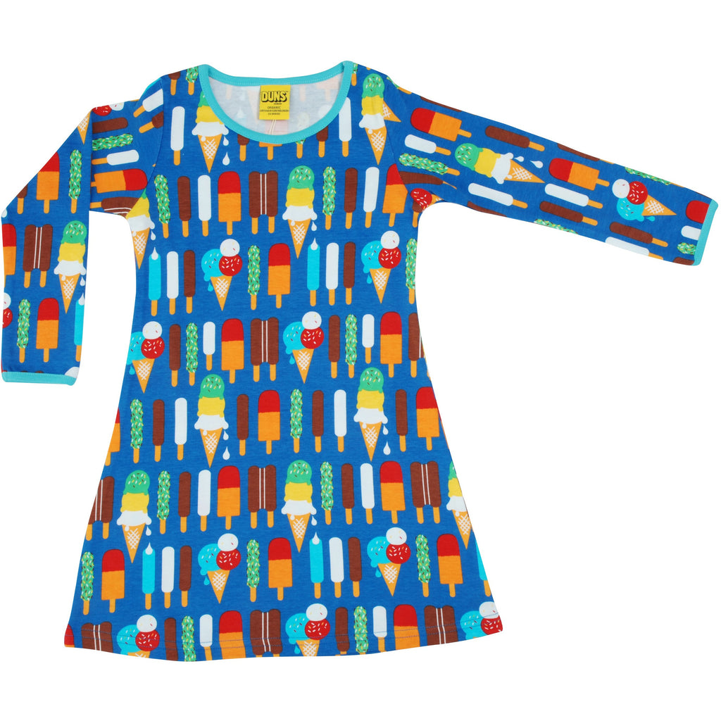 Duns Sweden - Ice Cream Blue Long Sleeve Dress