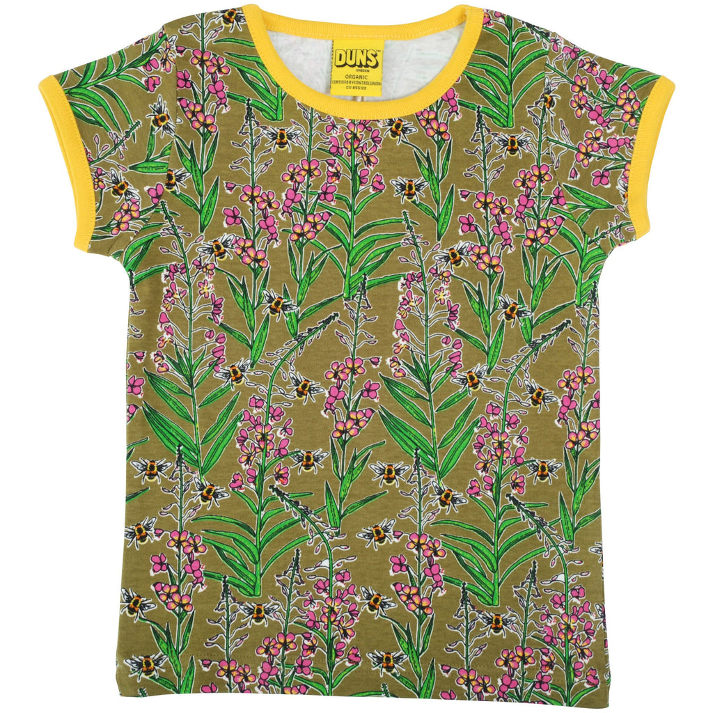 Duns Sweden - Willowherb Olive Branch - Short Sleeve Top