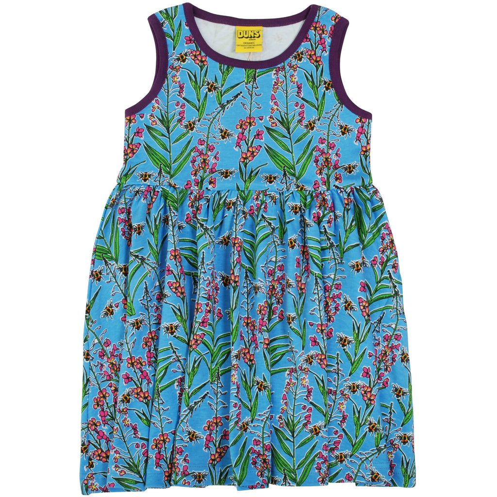 Duns Sweden - Willowherb Blue -  Sleeveless Twirly Dress