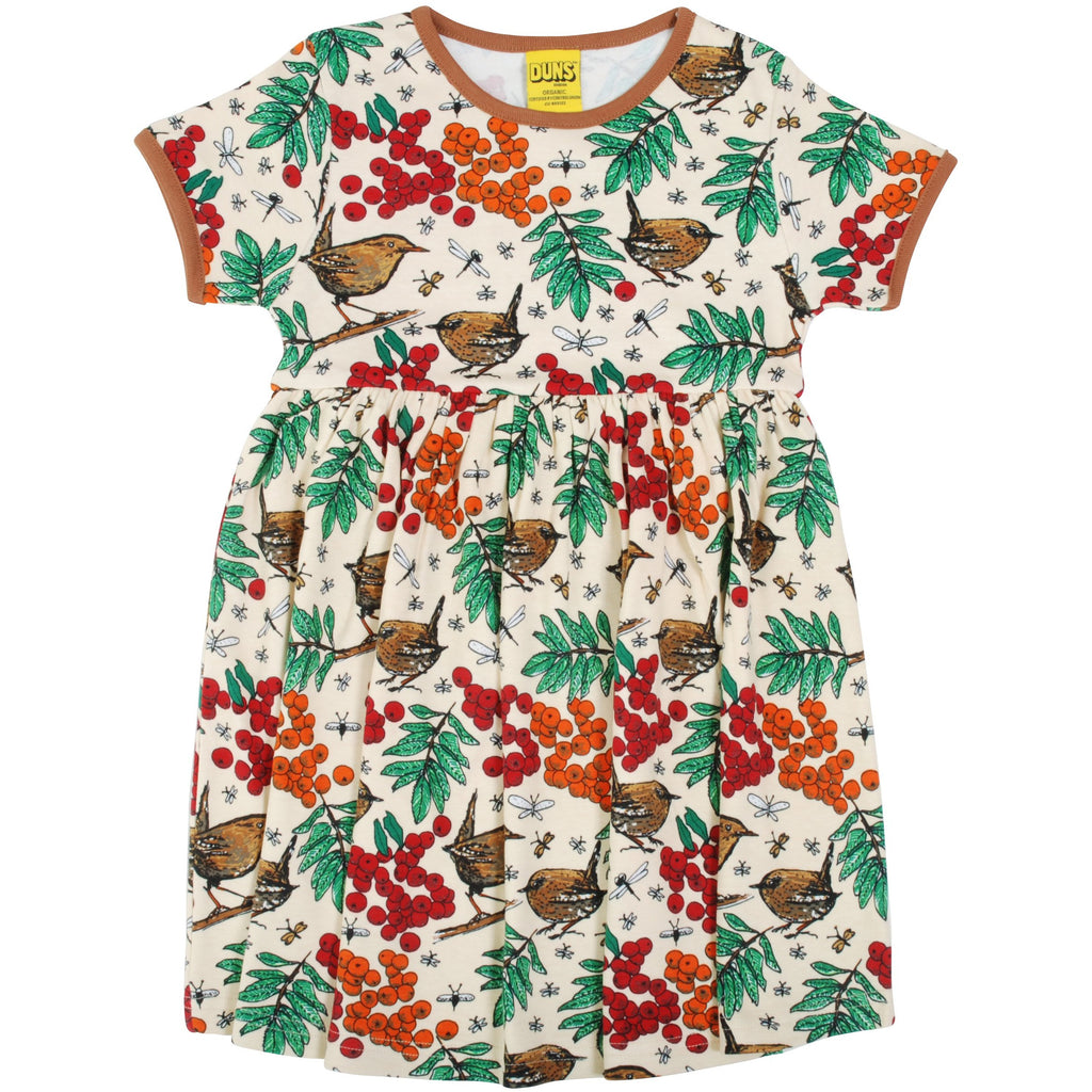 Duns Sweden - Rowanberry Mother of Pearl -  Short Sleeve Twirly Dress