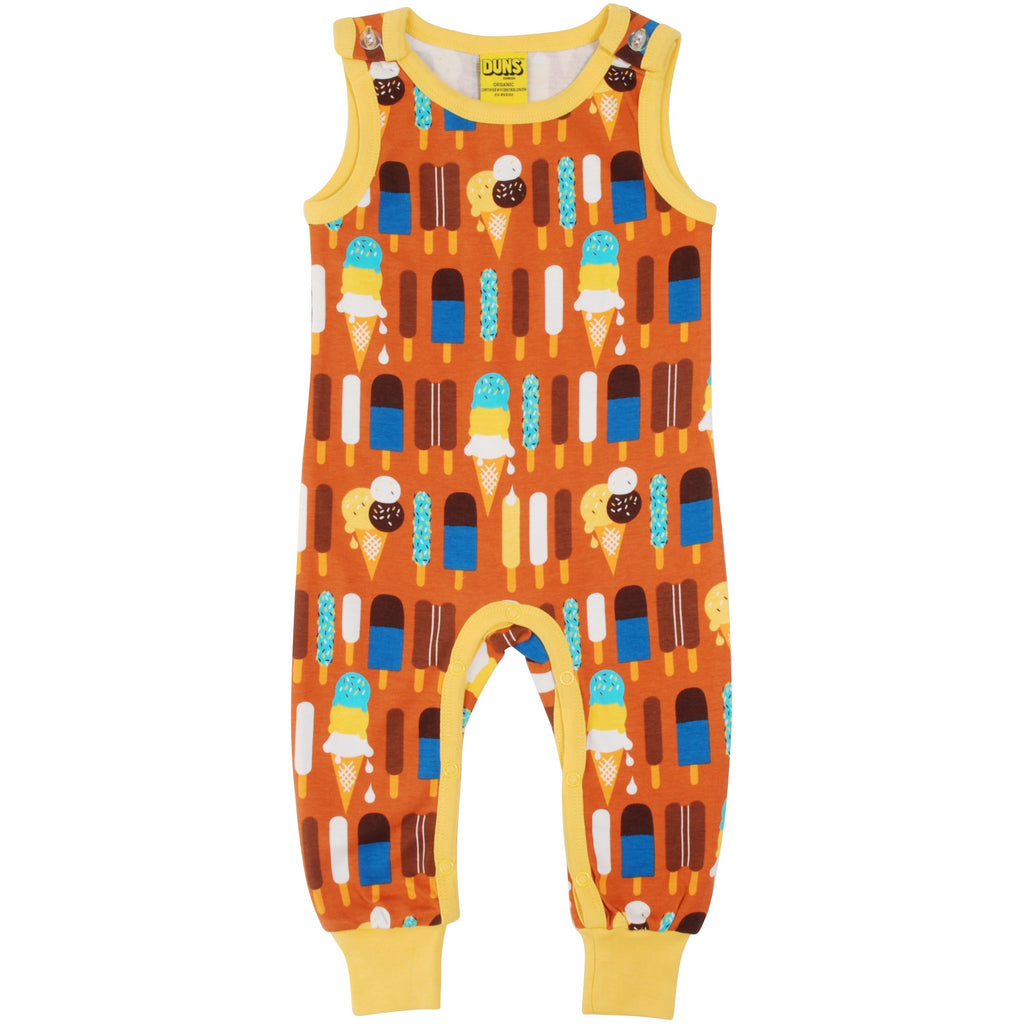 Duns Sweden - Ice Cream Pumpkin Dungaree (last one sz 6-9M)