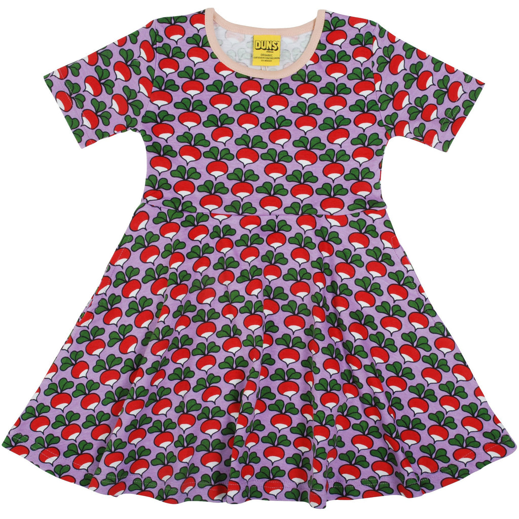 DUNS -  Short Sleeve Skater Dress - Radish - Viola