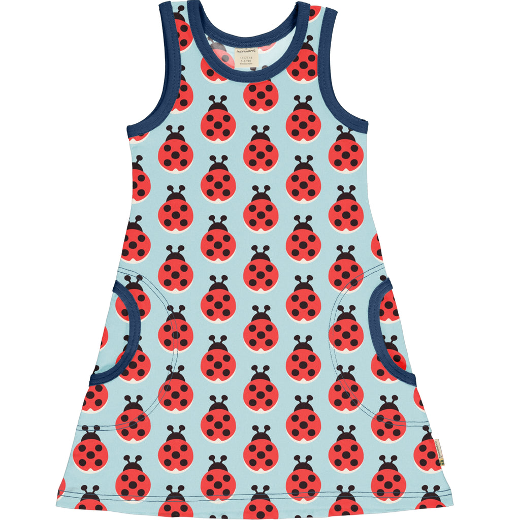 Maxomorra - Dress LAZY LADYBUG (last one sz 9-12M)