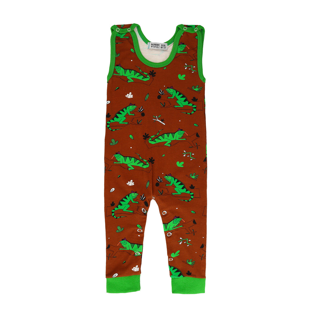 Raspberry Republic - Dungarees Ignacio the Iguana Brown - PopSee Online