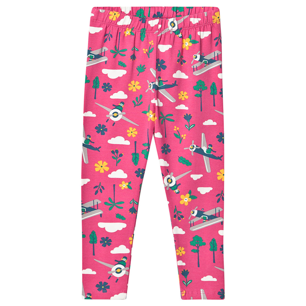 Frugi - Libby Printed Flamingo Flying leggings - PopSee Online