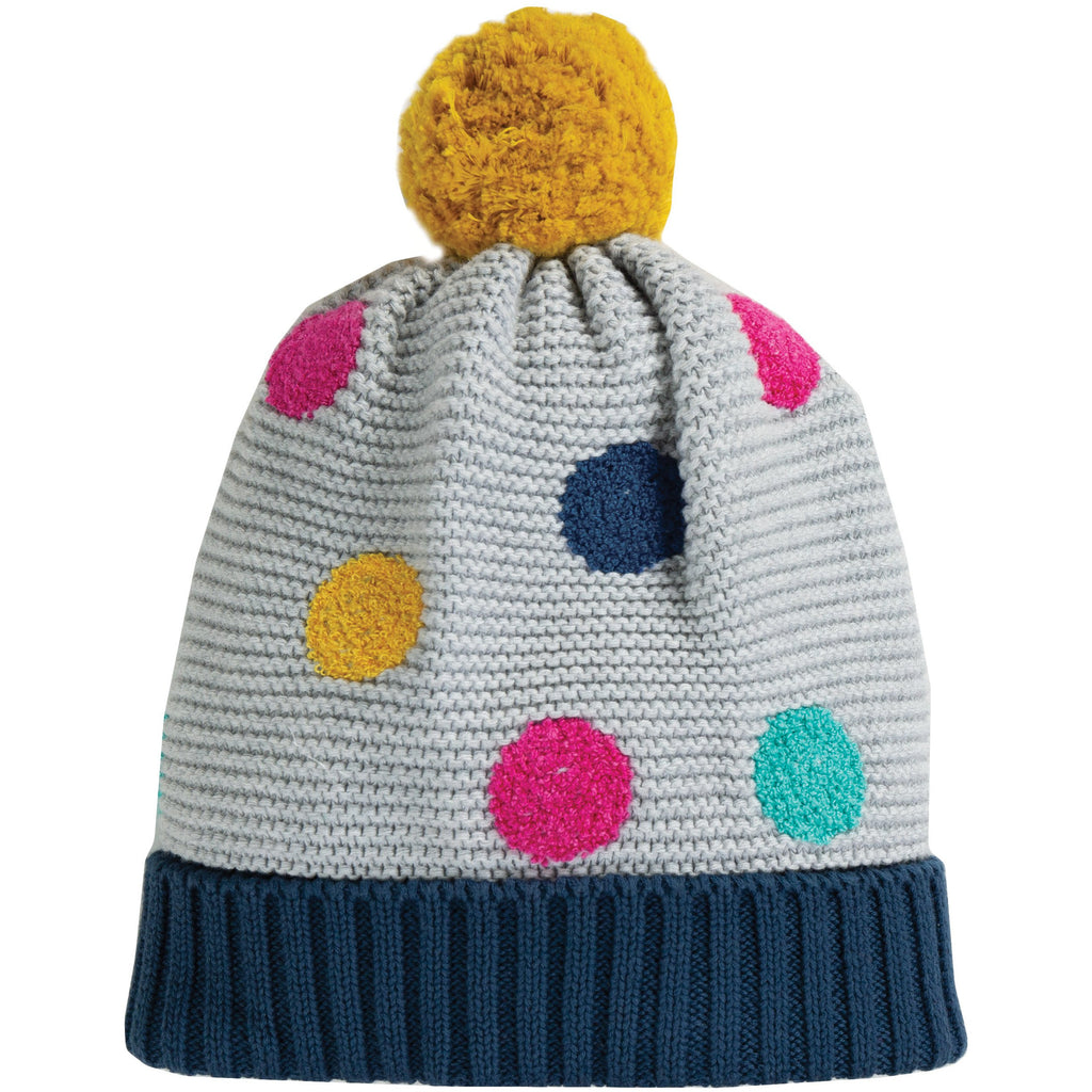 Frugi - Evie Embroidered Bobble Hat - PopSee Online