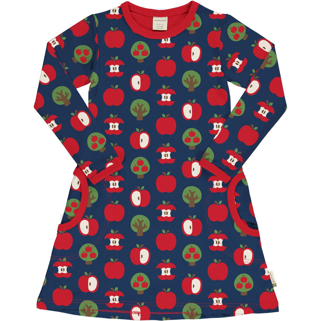 Maxomorra - Long Sleeve Dress Apple