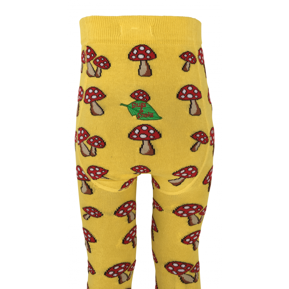 Slugs & Snails - Fun Guy Red mushrooms tights (last one sz 18-24M)