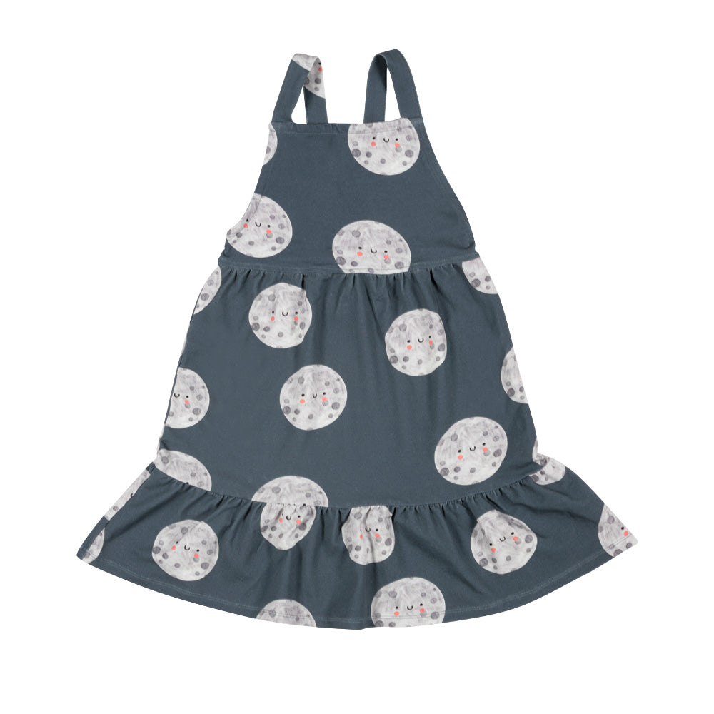 Dont grow up - Moon On Blue Pinafore Dress