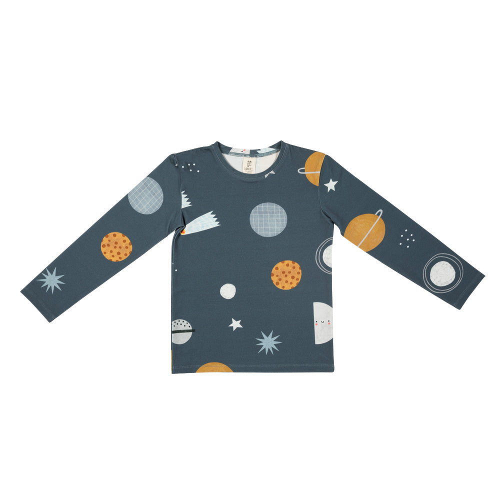 Dont grow up - Cosmos On Blue Top(last two sz 18-24Y & 3-4Y)