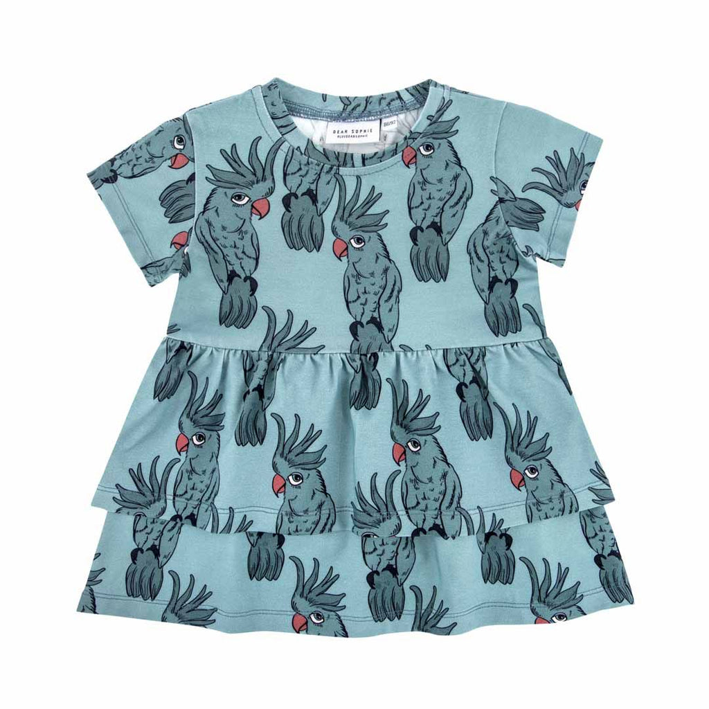 Dear Sophie -  Cockatoo Blue | Wave Tunic Dress