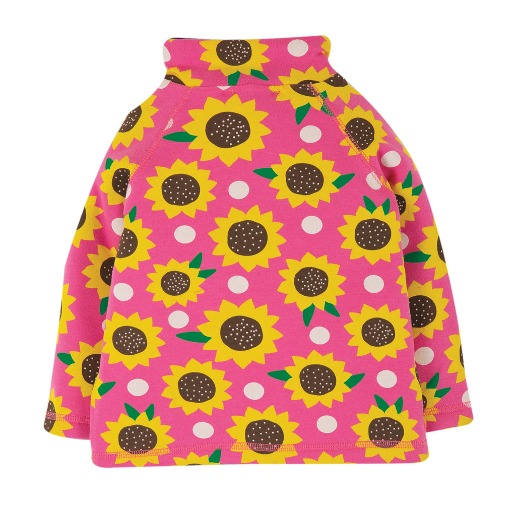Frugi - Little Snuggle Fleece Top - Flamingo Sunflowers (last one sz 3-4Y)