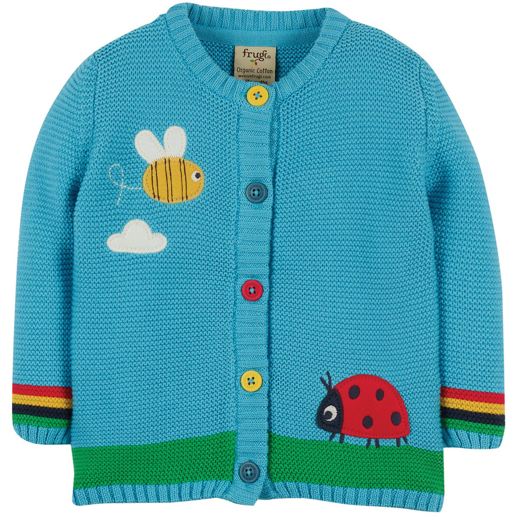 Frugi - Cuddly Knitted Baby Cardigan - Bee