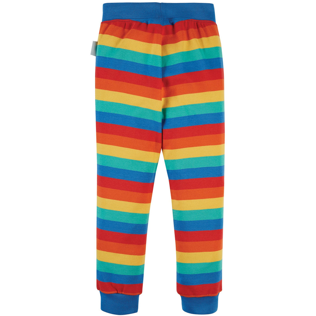 Frugi - Rainbow Stripe-Favourite Cuffed Legging