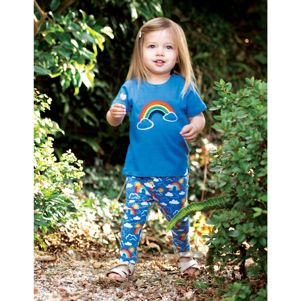 Frugi - Libby Printed Leggings Rainbow Skies