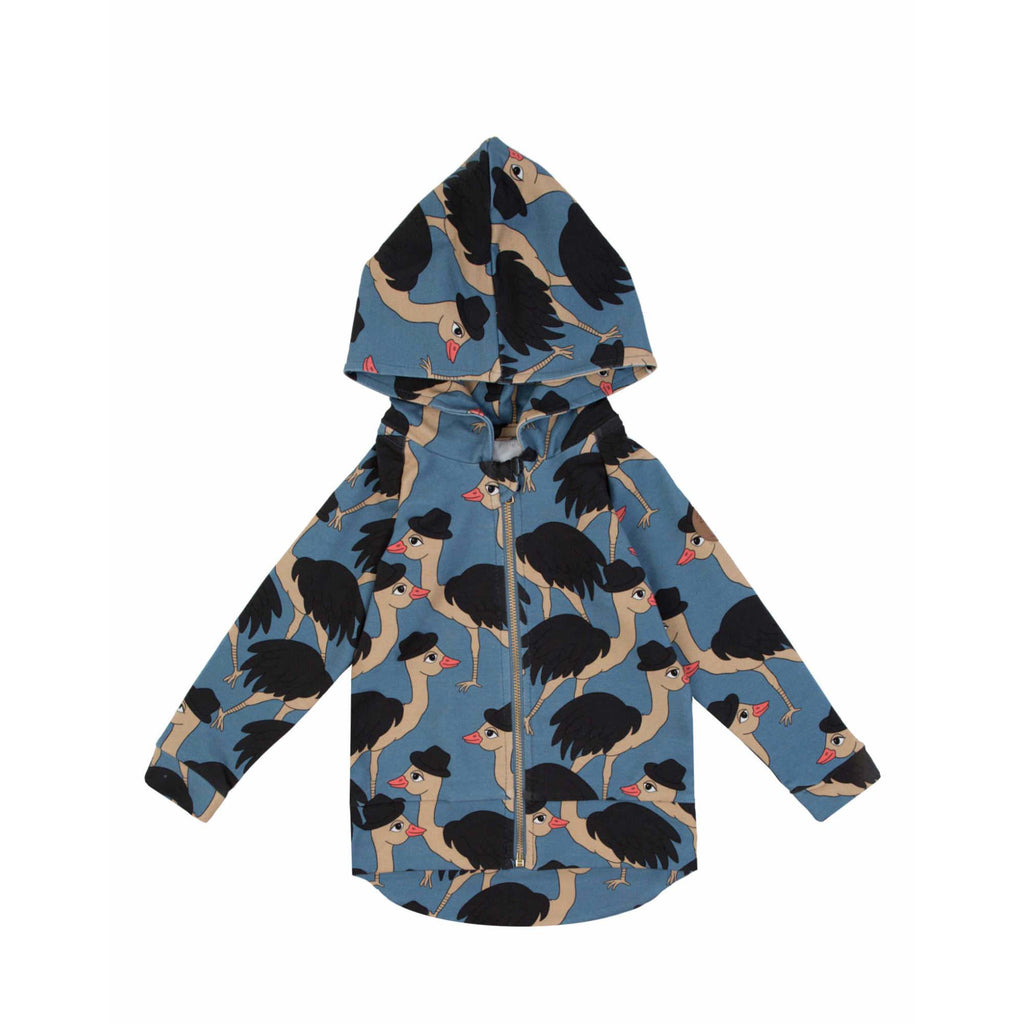 Dear Sophie - Lord Ostrich Blue Hoodie Jacket (last one sz 7-8Y)