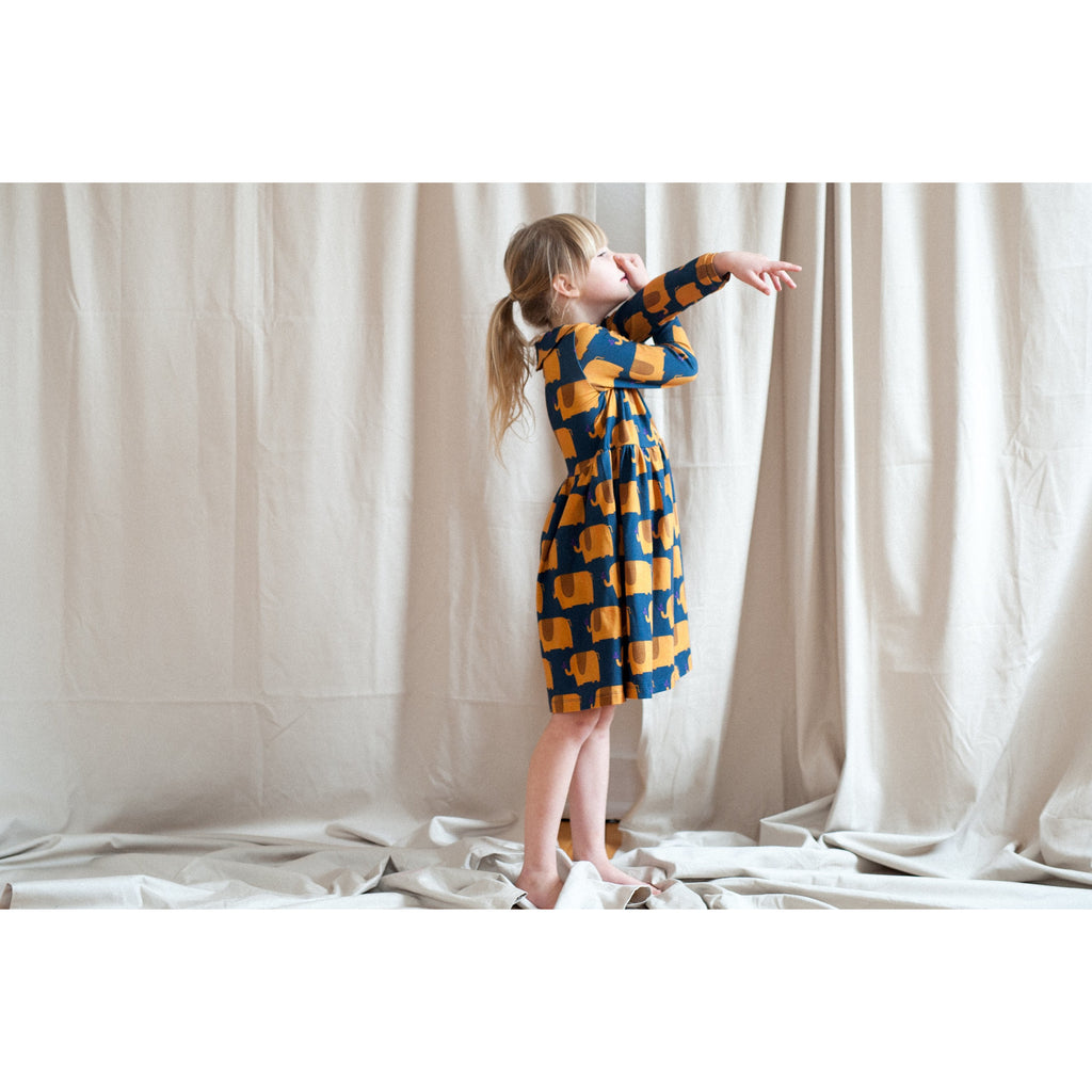 Don't Grow Up - Elephant collared dress