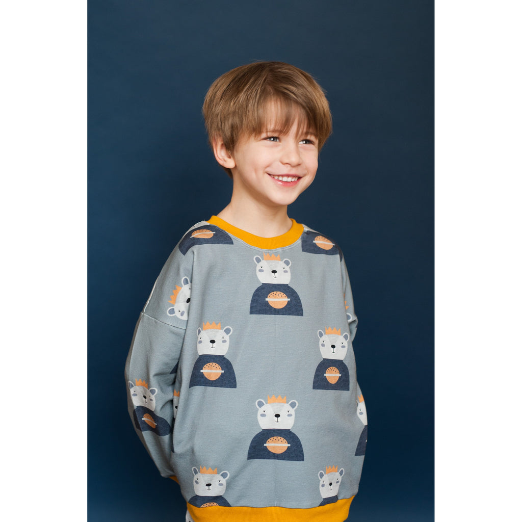 Don't Grow Up - Bear On Grey Sweatshirt (last two sz 4-5Y & 6-7Y)