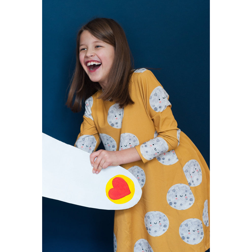 Don't Grow Up - Moon On Yellow Classic El Dress