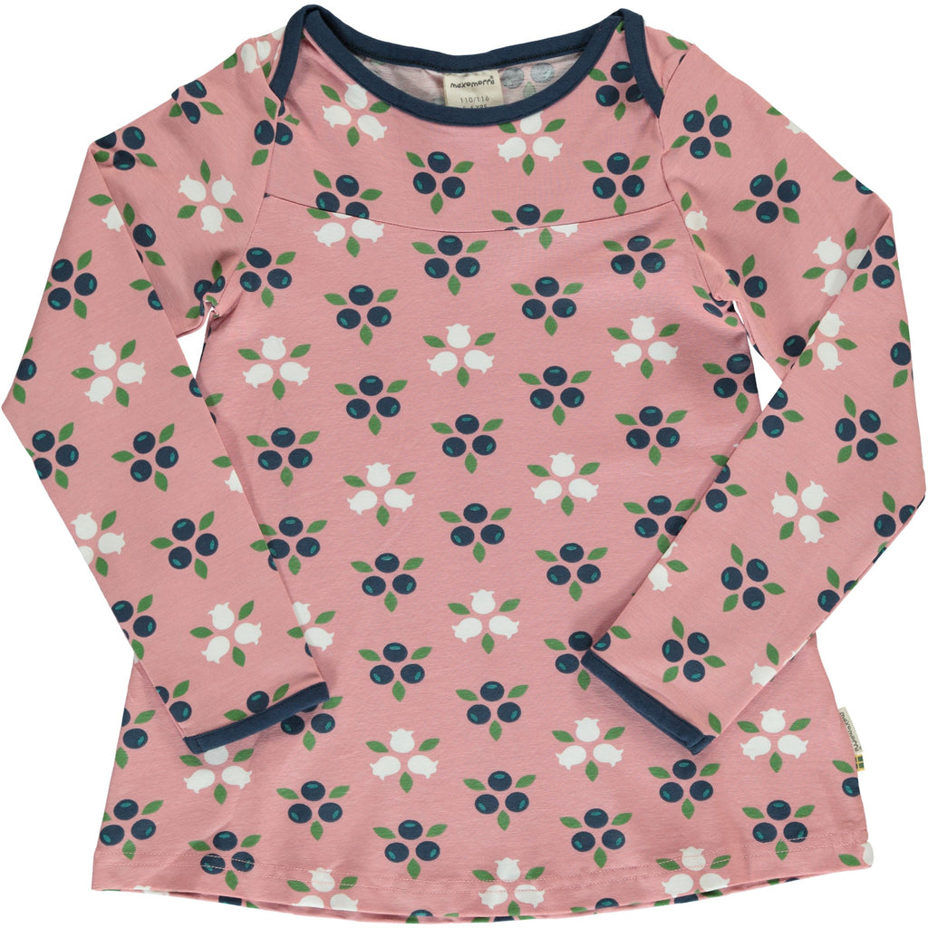 Maxomorra - Flare Top BLUEBERRY BLOSSOM (last one sz 9-12M)