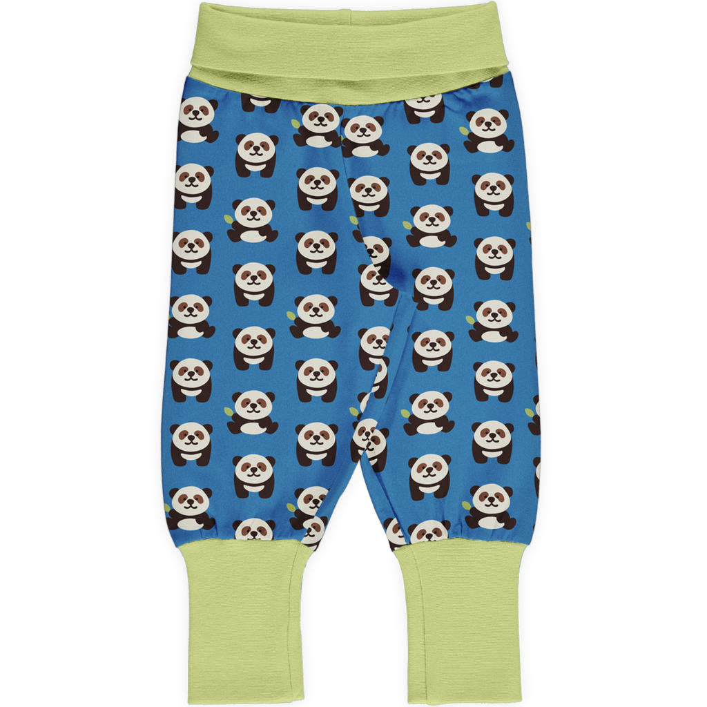 Maxomorra Pants Rib PLAYFUL PANDA