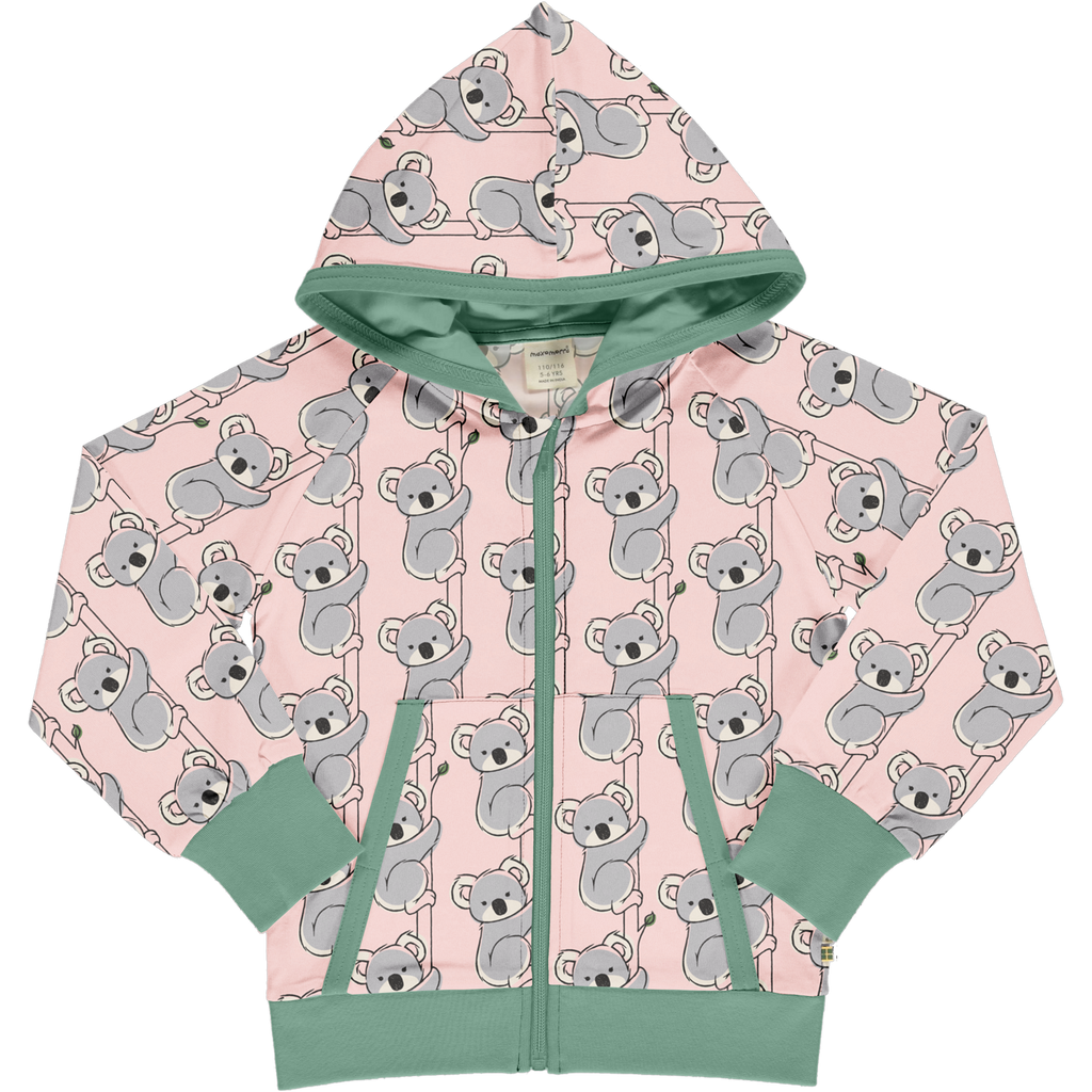 Maxomorra Cardigan Hood Sweat KOALA (last one sz 18-24M)