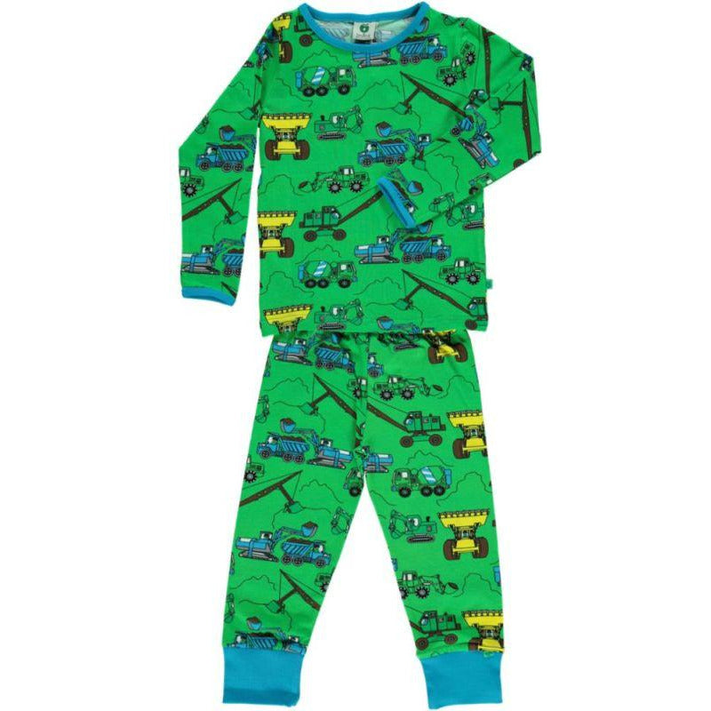 Småfolk - PJs Nightwear Machines - Green