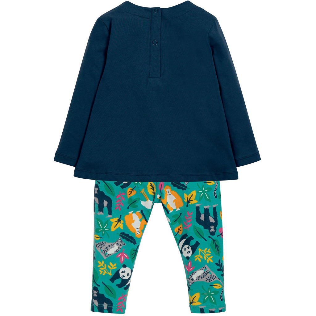 Frugi - Ottilie Outfit Space Blue/Snow Leopard - PopSee Online