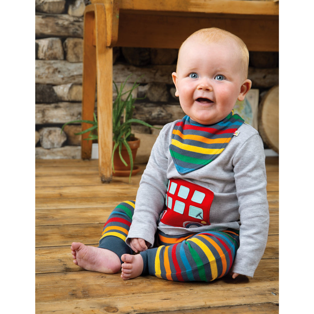 Frugi - On The Road Outfit Grey Marl/Bus - PopSee Online