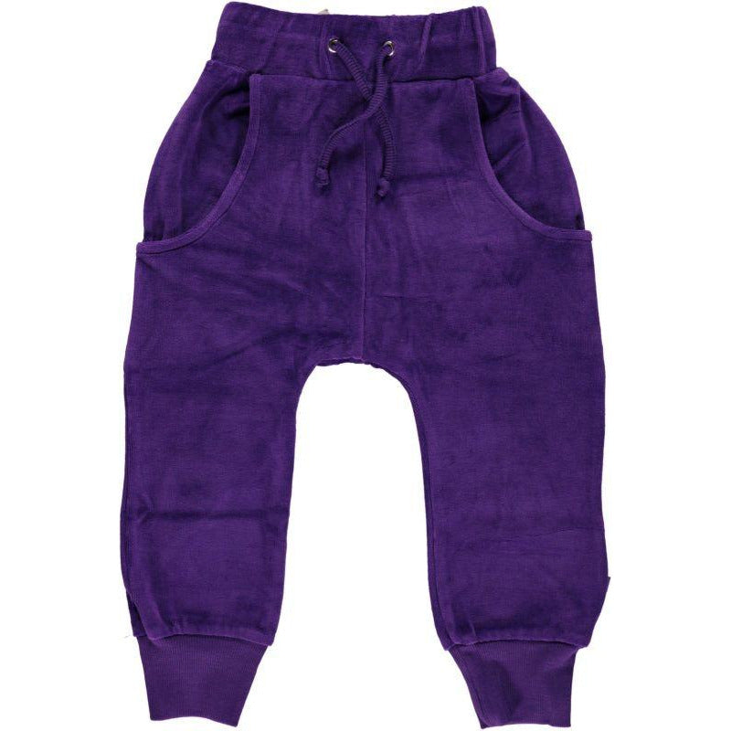 Småfolk - Velvet pants in Purple heart