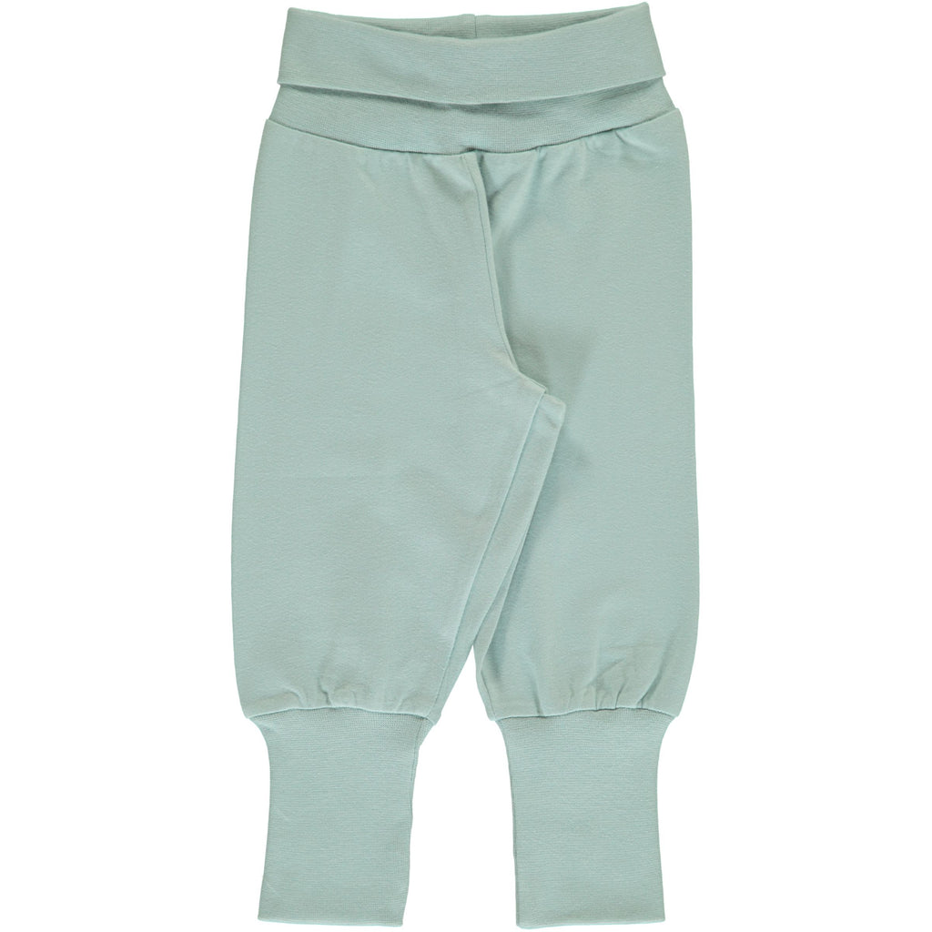 Maxomorra - Pants Rib Solid ICY BLUE