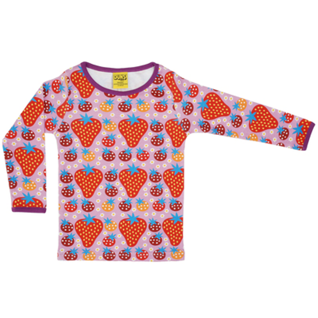 Duns Sweden - Strawberry Field Light Purple Long Sleeve Top - PopSee Online