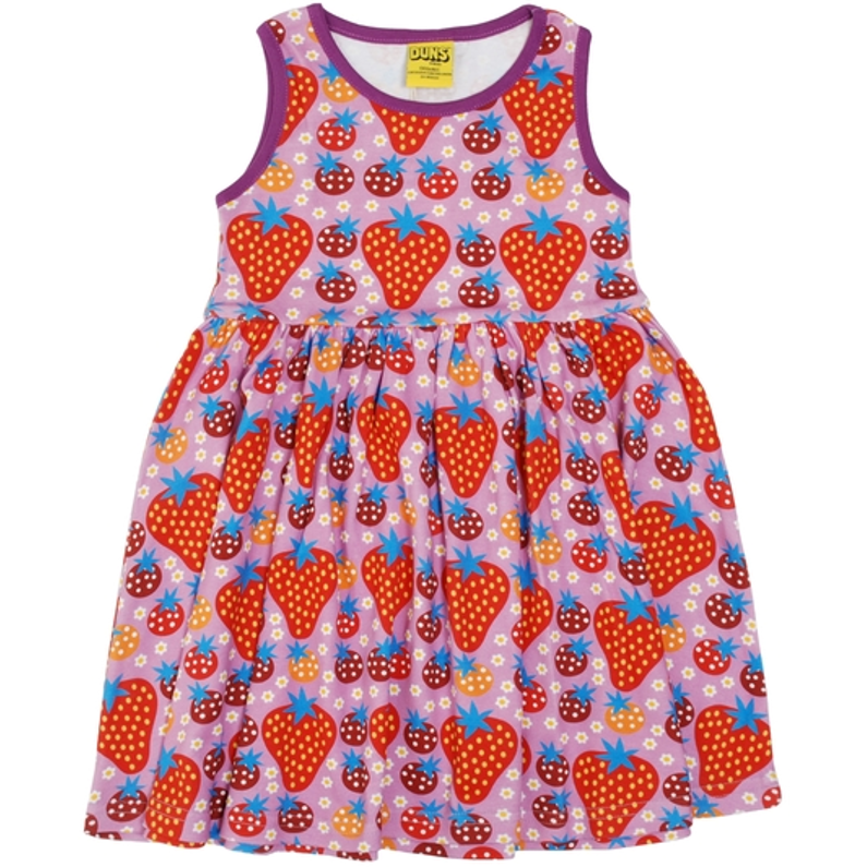 Duns Sweden - Strawberry Field Light Purple Sleeveless Dress W Gather Skirt - PopSee Online
