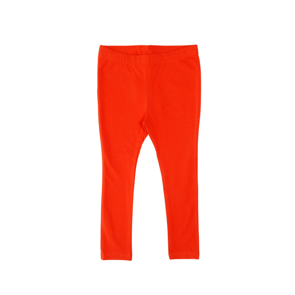 More than a Fling - Mandarin Red Leggings - PopSee Online