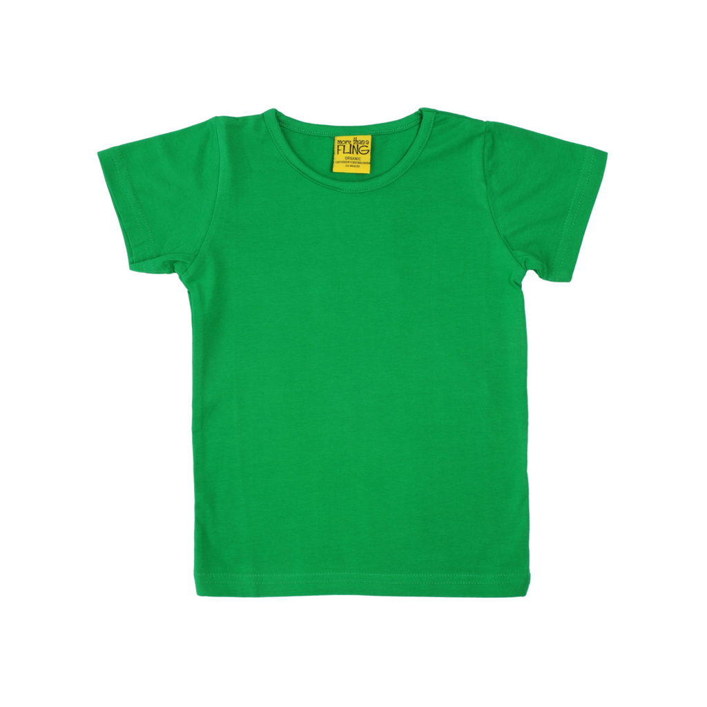 More than a Fling - Short Sleeve Green Top - PopSee Online