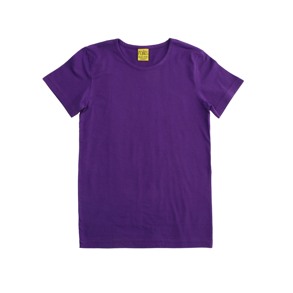More than a Fling - Short Sleeve Purple Top - PopSee Online