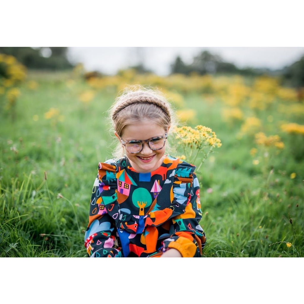 Raspberry Republic - Autumn Rain| Long Sleeve Dress (last one sz 9-10Y)