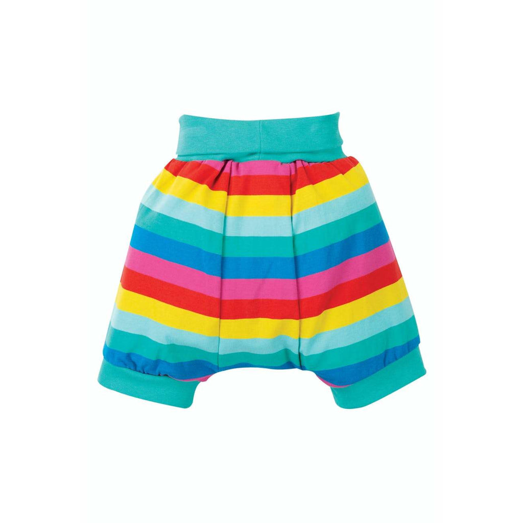 Frugi - Shallot Shorts, Flamingo Multi Stripe