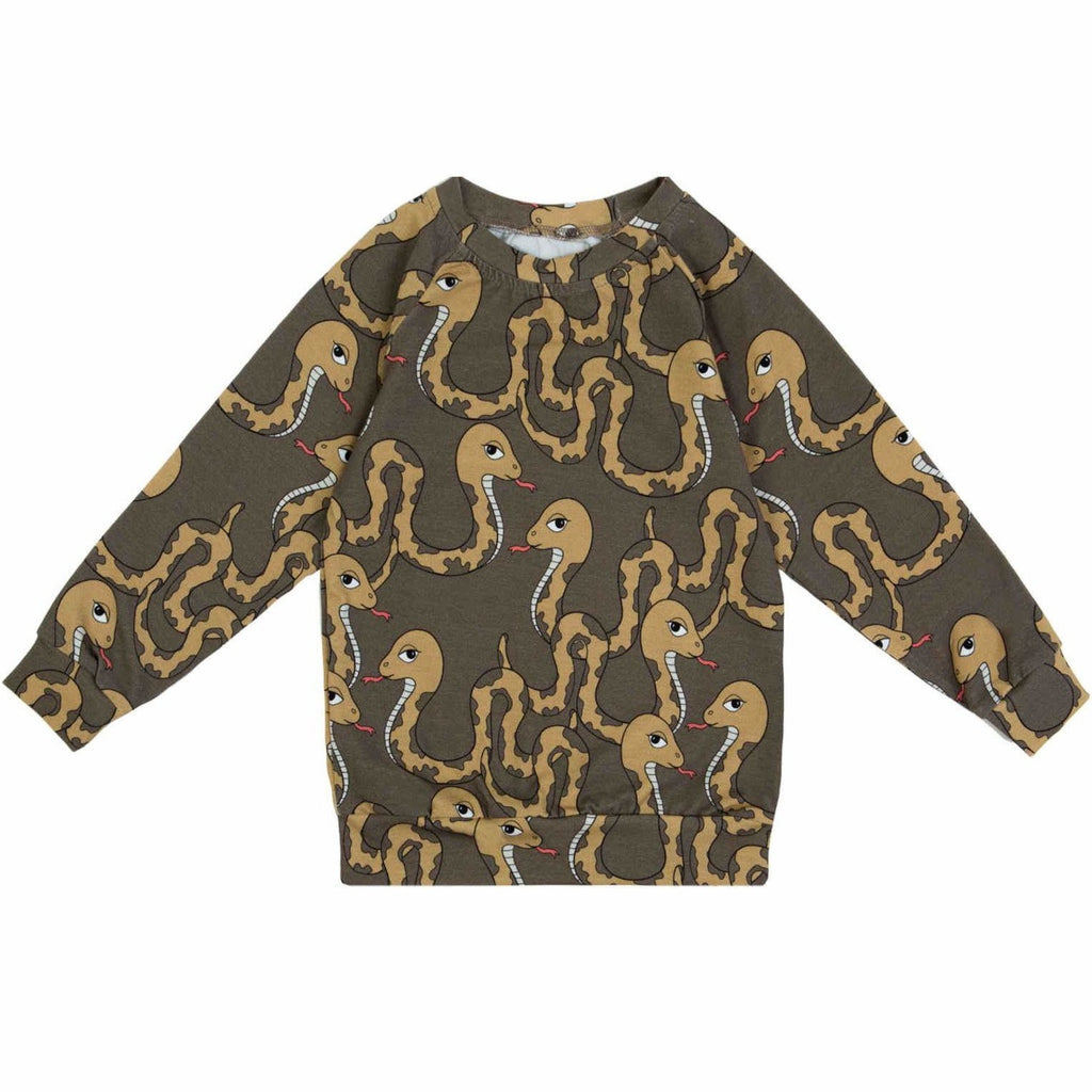 Dear Sophie - Snake Brown Longsleeve Top